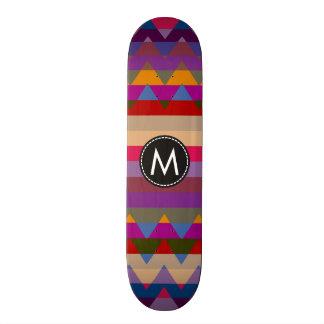 Chevron de moda raya el modelo #17 tabla de skate