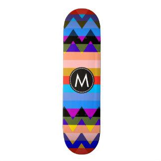 Chevron de moda raya el modelo #24 tablas de patinar
