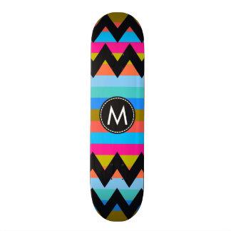 Chevron de moda raya el modelo #4 tabla de skate