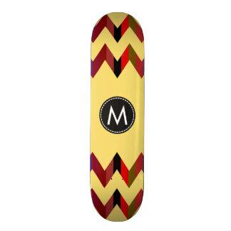 Chevron de moda raya el modelo #8 tablas de skate