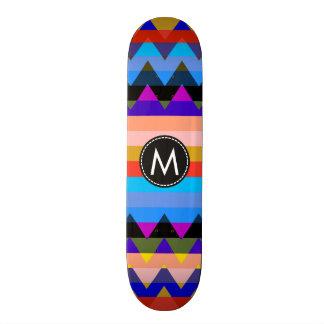 Chevron de moda raya el modelo #9 patines personalizados