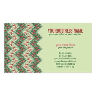 Chevron decorativo étnico tarjetas de negocios