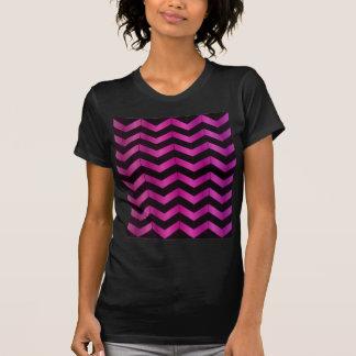 Chevron fucsia profundo camiseta