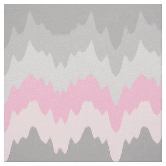 Chevron gris gris rosado Ombre se descolora Tela