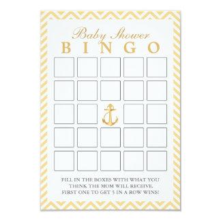 Chevron náutico raya tarjetas del bingo de la invitación 8,9 x 12,7 cm