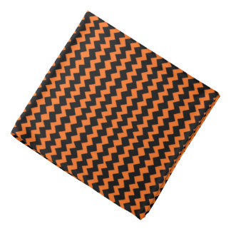 Chevron negro y anaranjado bandana