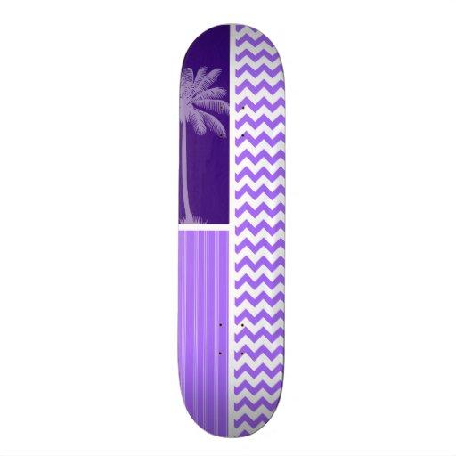 Chevron púrpura tropical patines