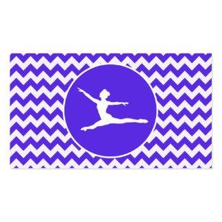 Chevron violeta azul; Ballet Plantilla De Tarjeta De Negocio