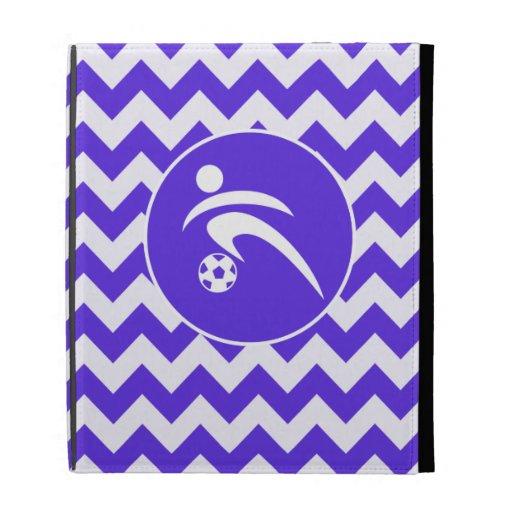 Chevron violeta azul; Fútbol