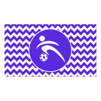 Chevron violeta azul; Fútbol Tarjeta De Visita