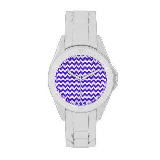 Chevron violeta azul relojes de mano