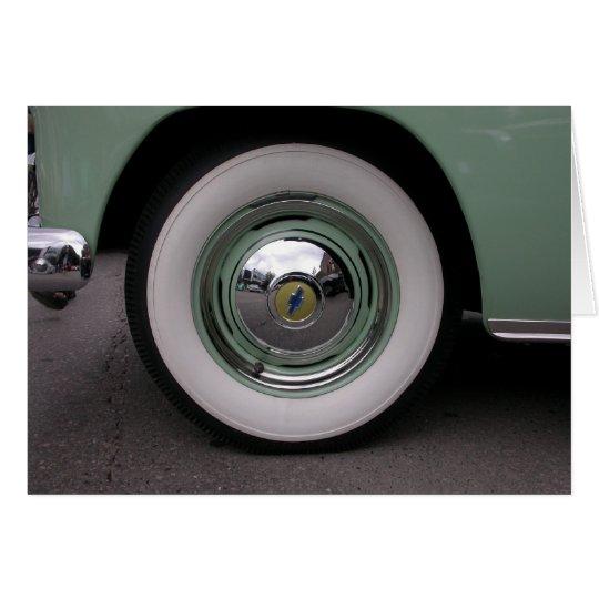 Chevy verde claro tarjeta de felicitación