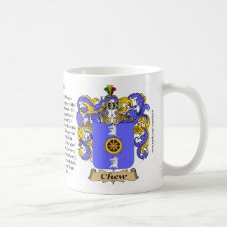 Chew, el origen, el significado y el escudo taza clásica