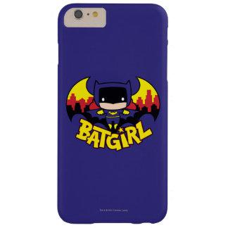Chibi Batgirl con el horizonte y el logotipo de Funda Barely There iPhone 6 Plus
