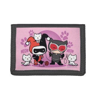 Chibi Harley Quinn y Catwoman de Chibi con los