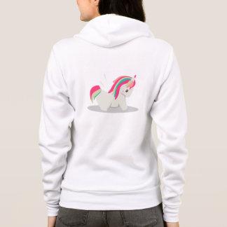 Chibi rechoncho lindo del unicornio que se sudadera