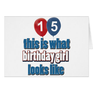 Chica 15 del cumpleaños tarjeta