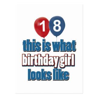 Chica 18 del cumpleaños