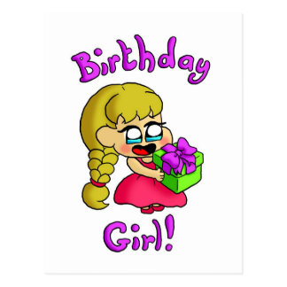 Chica 1 del cumpleaños postal