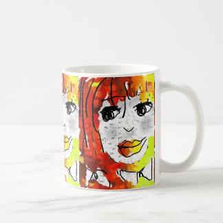 Chica 2 del maíz taza de café