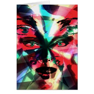 Chica abstracto tarjeta de felicitación
