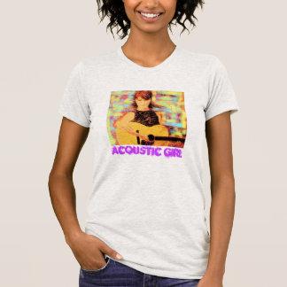 Chica acústico camiseta