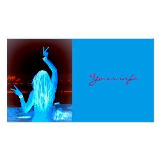 chica azul del hippie tarjetas de visita