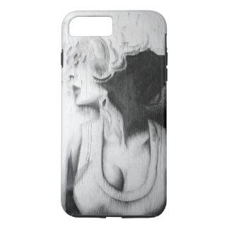 chica blanco y negro funda iPhone 7 plus