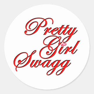 Chica bonito Swagg Pegatina Redonda