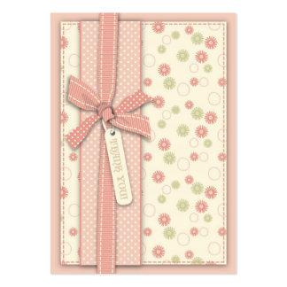 Chica bonito TY floral Notecard Tarjetas De Visita Grandes
