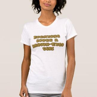 Chica Brown-Observado Camisetas