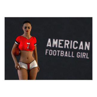 Chica Chablis del fútbol americano Anuncios Personalizados