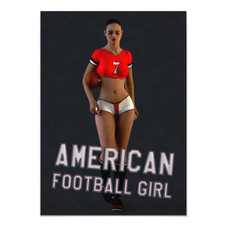 Chica Chablis del fútbol americano Invitación 12,7 X 17,8 Cm