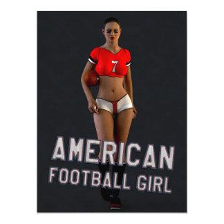Chica Chablis del fútbol americano Invitación 16,5 X 22,2 Cm
