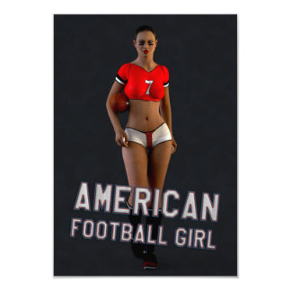 Chica Chablis del fútbol americano Invitación 8,9 X 12,7 Cm