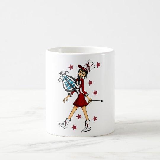 chica chistoso con el glockenspiel taza de café