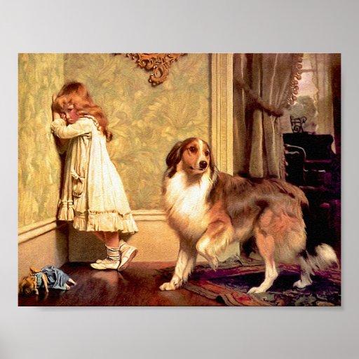 "Chica con el mascota Sheltie: ""Un abogado especial Póster"