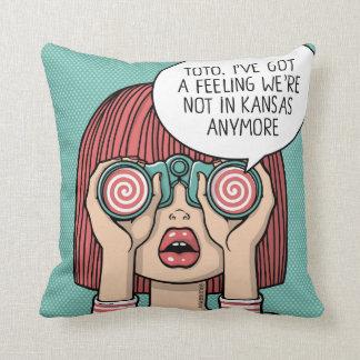 Chica con la almohada del ilustracion de los