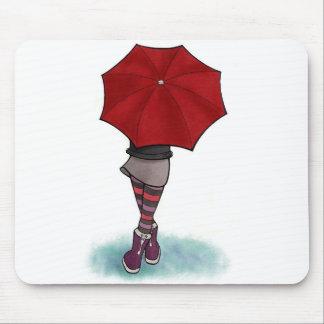 chica con paraguas alfombrilla alfombrilla de ratón