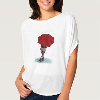 chica con paraguas camiseta