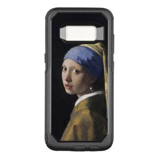 Chica con un pendiente Vermeer de la perla Funda Otterbox Commuter Para Samsung Galaxy S8