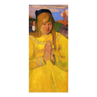 Chica cristiano joven de Paul Gauguin- Tarjeta Publicitaria
