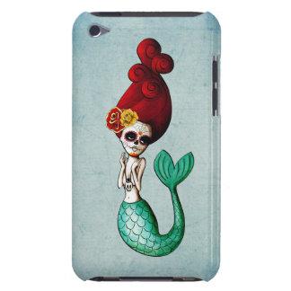 Chica Cute Dia de Los Muertos Mermaid iPod Case-Mate Cobertura