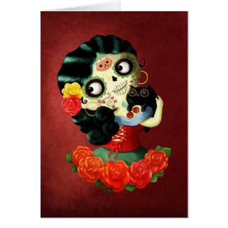 Chica de Catrina del mexicano de Dia de Los Tarjeta De Felicitación