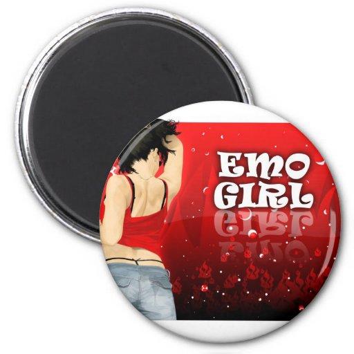 Chica de Emo Imán De Frigorífico