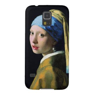 Chica de enero Vermeer con un arte del Barroco del Funda Galaxy S5