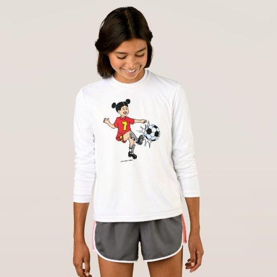 chica de futbolístico camiseta