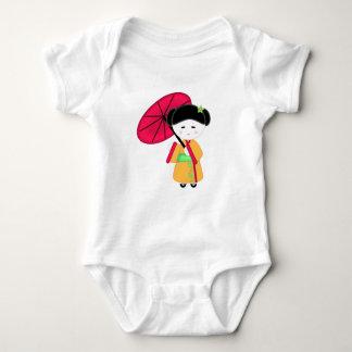 Chica de geisha japonés body para bebé
