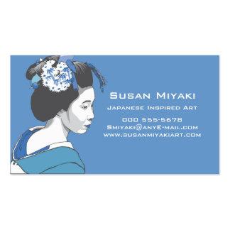 Chica de geisha tarjetas de visita