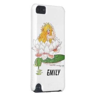 Chica de hadas floral lindo del niño de flor del funda para iPod touch 5